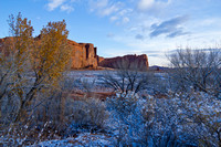 Images from a Snow Day in Arches National Park