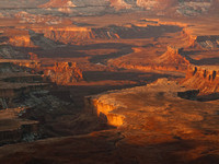 An Early Morning View From the Green River Overlook in Canyonlands National Park