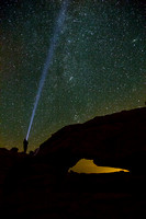 Lighting the Stars at Mesa Arch